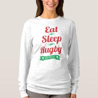 Eat, Sleep, Rugby, Repeat Women's Top