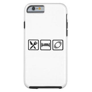 Eat sleep Rugby Tough iPhone 6 Case