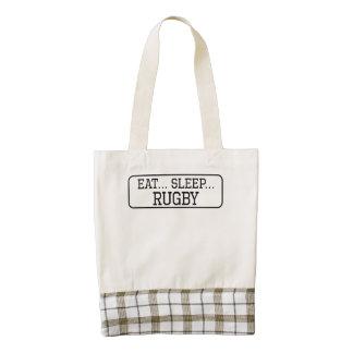 Eat Sleep Rugby Zazzle HEART Tote Bag