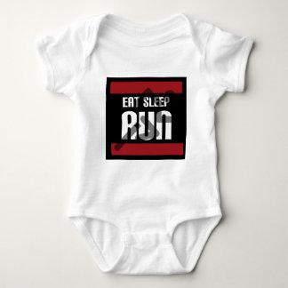 Eat Sleep Run Baby Bodysuit