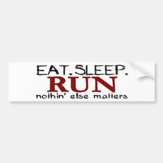 Eat Sleep Run Bumper Sticker