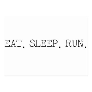 Eat Sleep Run Large Business Cards (Pack Of 100)