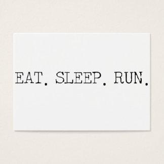 Eat Sleep Run Business Card
