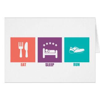 Eat Sleep Run Card