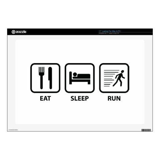 "Eat Sleep Run Decals For 17"" Laptops"