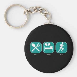 Eat Sleep Run Basic Round Button Keychain
