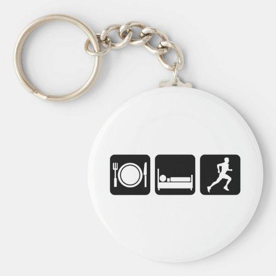 eat sleep run keychain