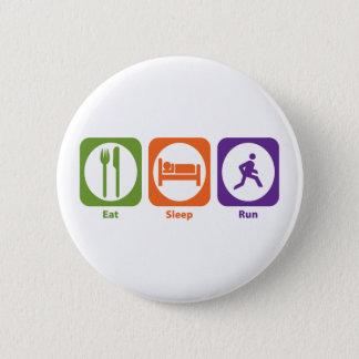 Eat Sleep Run Pinback Button