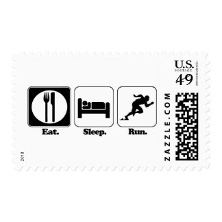 eat sleep run stamps