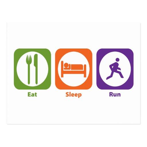 Eat Sleep Run Postcards