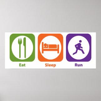 Eat Sleep Run Poster