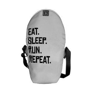 Eat Sleep Run Repeat Courier Bags