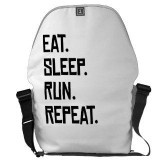 Eat Sleep Run Repeat Courier Bag