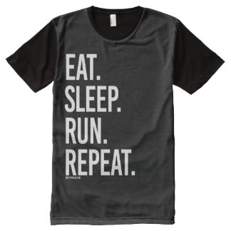 Eat Sleep Run Repeat -   Running Fitness -.png All-Over Print Shirt