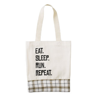 Eat Sleep Run Repeat Zazzle HEART Tote Bag