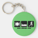 Eat sleep run running key chains