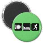 Eat sleep run running magnets