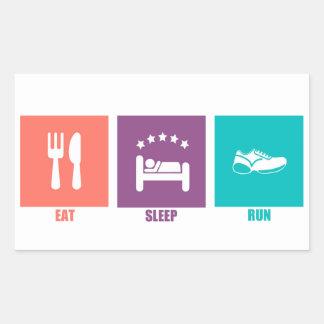 Eat Sleep Run Stickers