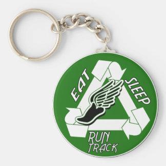 Eat Sleep Run Track Keychain