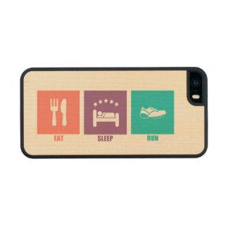Eat Sleep Run Carved® Maple iPhone 5 Slim Case