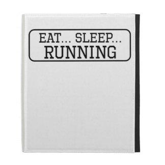 Eat Sleep Running iPad Folio Cover