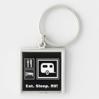 Eat. Sleep. RV! Keychain