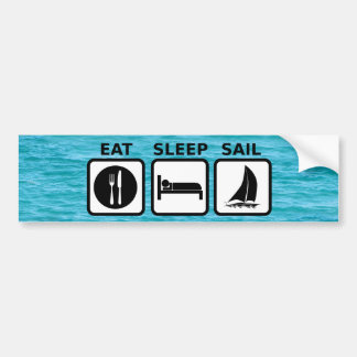 Eat Sleep Sail Bumper Sticker