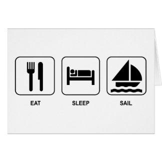 Eat Sleep Sail Card