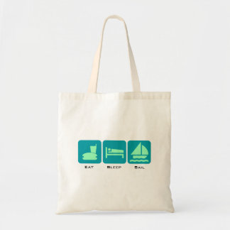 Eat Sleep Sail Green Boaters Design Tote Bag