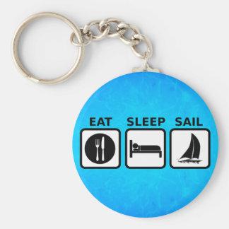 Eat Sleep Sail Keychain
