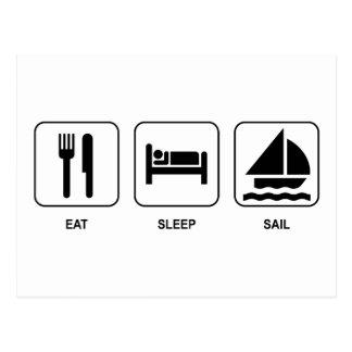Eat Sleep Sail Postcard