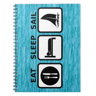 Eat Sleep Sail Spiral Notebook