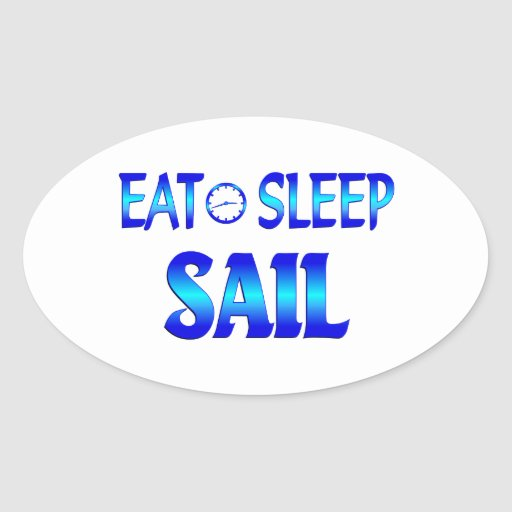 Eat Sleep Sail Stickers