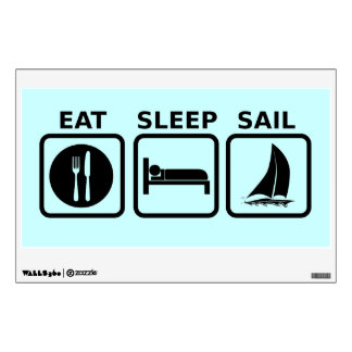 Eat Sleep Sail Wall Sticker