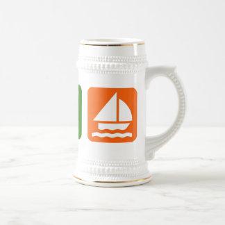 Eat Sleep Sailing Beer Stein