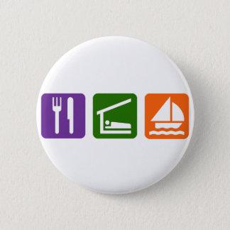 Eat Sleep Sailing Button