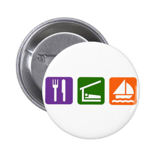 Eat Sleep Sailing Button