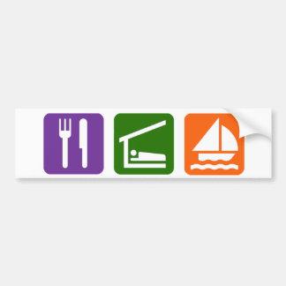 Eat Sleep Sailing Car Bumper Sticker