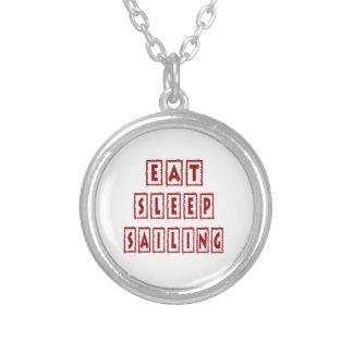 Eat Sleep Sailing Personalized Necklace