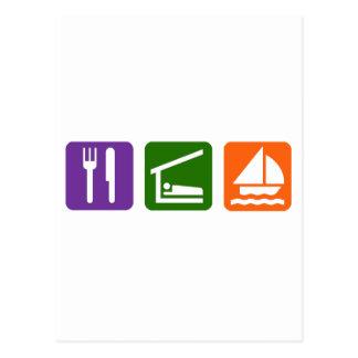 Eat Sleep Sailing Postcard