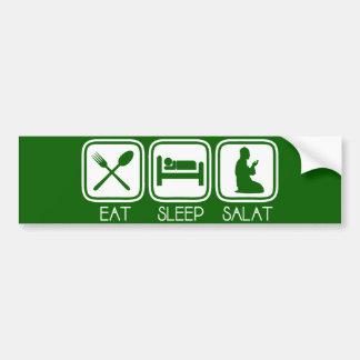 Eat Sleep Salat Car Bumper Sticker