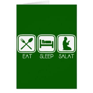 Eat Sleep Salat Card