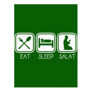 Eat Sleep Salat Postcard