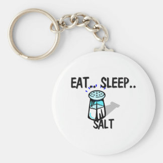 Eat Sleep SALT Basic Round Button Keychain