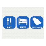 Eat Sleep Saudi Arabia Postcard