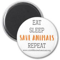 Eat Sleep Save Animals Magnet
