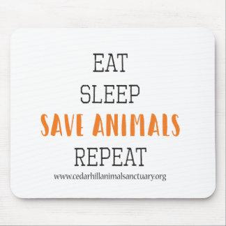Eat Sleep Save Animals Mouse Pad