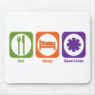 Eat Sleep Save Lives Mouse Mat
