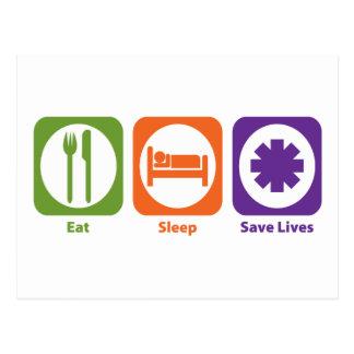Eat Sleep Save Lives Postcard