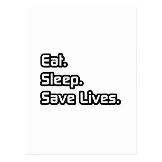 Eat Sleep Save Lives Postcards